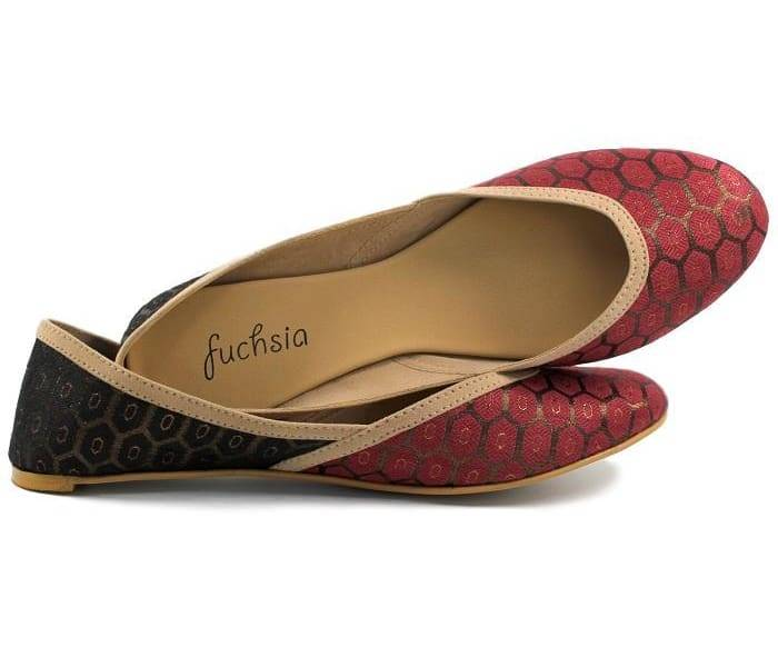 Fuchsia Inc. Antalya Maroon Limited Edition Vegan Flats