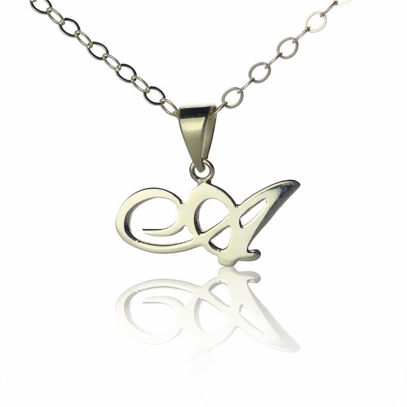 GetNameNecklace Sterling Silver Custom Initial Letter Necklace
