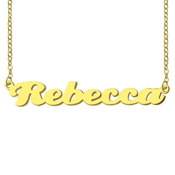 GetNameNecklace Personalized Solid Gold Puff Font Name Necklace