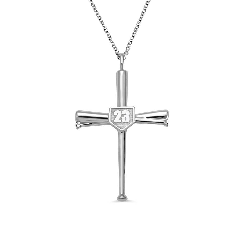 GetNameNecklace Sport Necklace Baseball Cross Necklace for Men Baseball Pendant Boy Necklace for Him