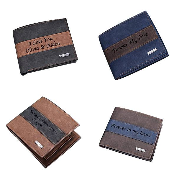 GetNameNecklace Personalized Leather Wallet for Men Gift for Father gift for boyfriend