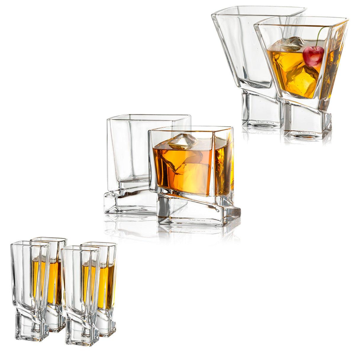 JoyJolt Carre Collection Drinkware Set