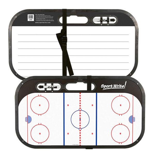 SPORT WRITE Hockey Coaching Board w/Strap and Hook