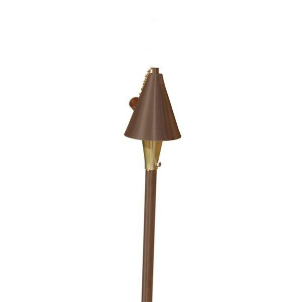 Focus Industries Small Tiki Torch and Light - Color: Copper - Size: 25 ines - AL-18-SMDMAHLED3CAR