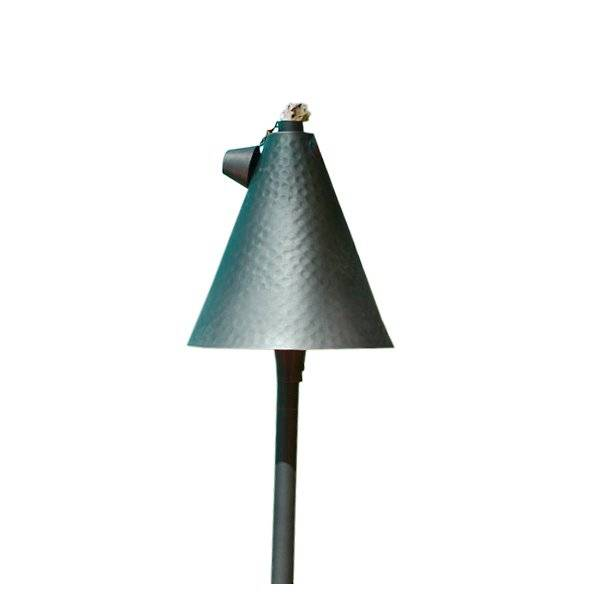 Focus Industries Small Tiki Torch and Light - Color: Copper - Size: 25 ines - AL-18-SMHHDMAHLED3CAR
