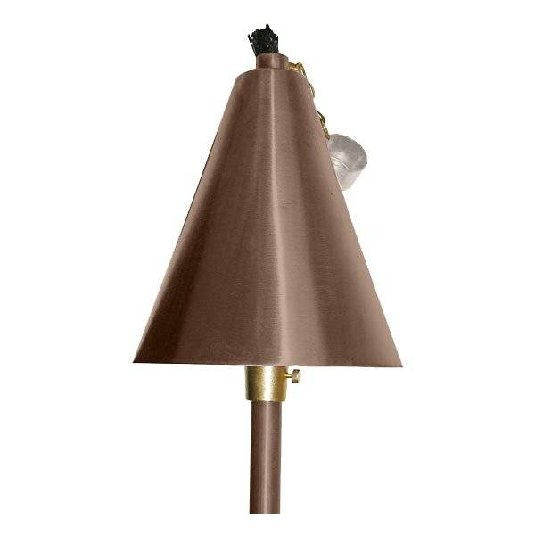 Focus Industries Large Tiki Torch and Light - Color: Copper - AL-18-LGAHBBLED3CAR