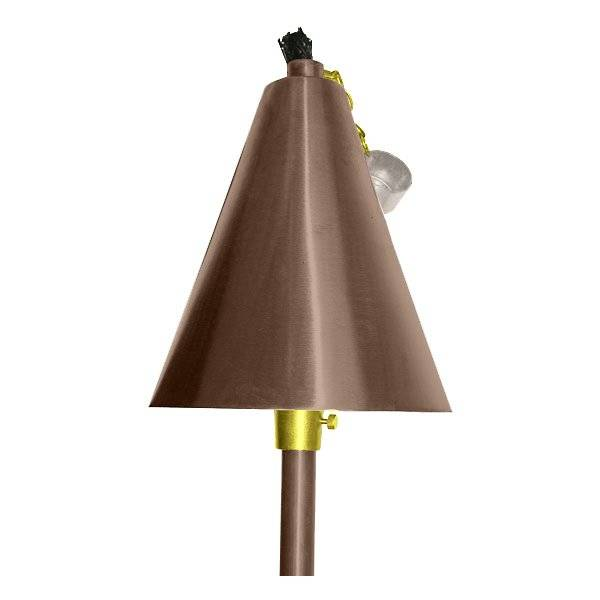 Focus Industries Large Tiki Torch and Light - Color: Copper - AL-18-LGAHSBDLED3CAR