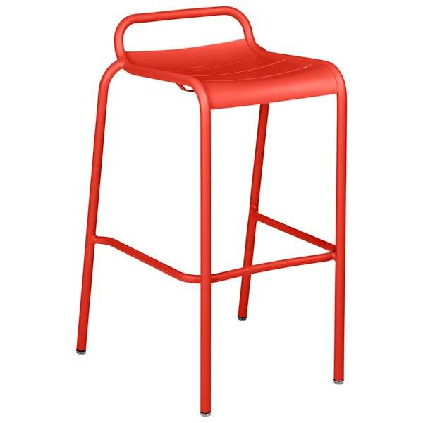 Fermob Luxembourg Low Back High Stool Set of 2 - Color: Red - 411245