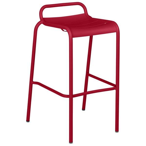 Fermob Luxembourg Low Back High Stool Set of 2 - Color: Red - 411243