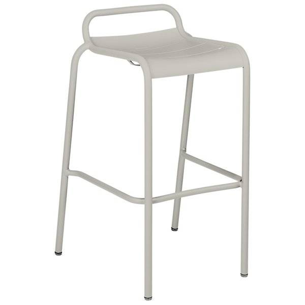 Fermob Luxembourg Low Back High Stool Set of 2 - Color: Grey - 4112A5