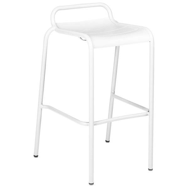 Fermob Luxembourg Low Back High Stool Set of 2 - Color: White - 411201