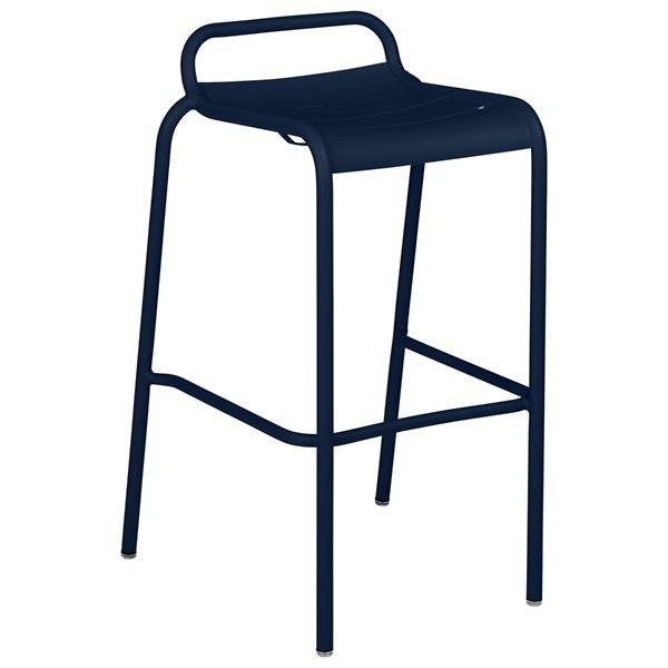 Fermob Luxembourg Low Back High Stool Set of 2 - Color: Blue - 411292