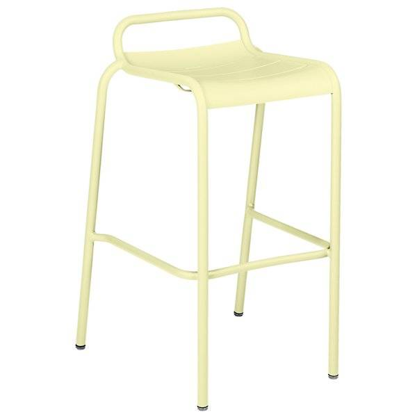 Fermob Luxembourg Low Back High Stool Set of 2 - Color: Yellow - 4112A6
