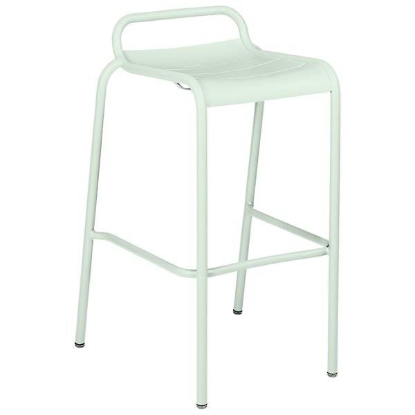 Fermob Luxembourg Low Back High Stool Set of 2 - Color: White - 4112A7