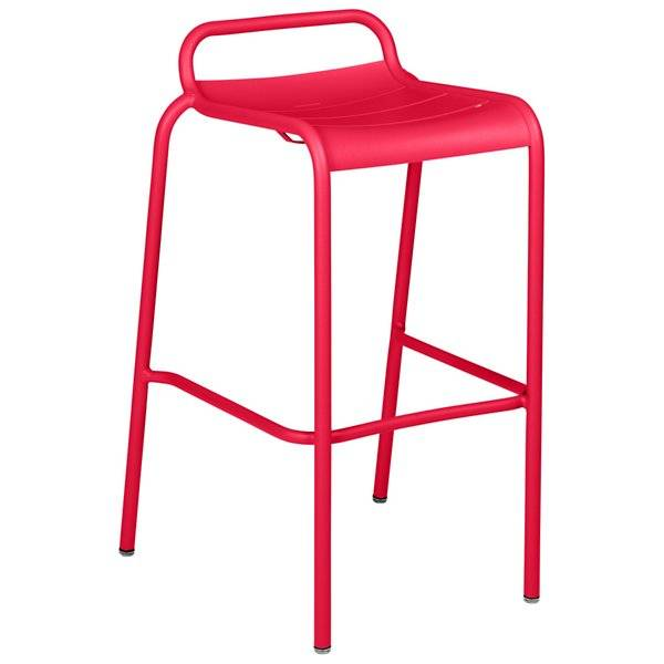 Fermob Luxembourg Low Back High Stool Set of 2 - Color: Pink - 411293