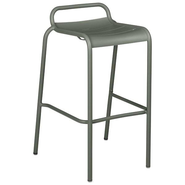 Fermob Luxembourg Low Back High Stool Set of 2 - Color: Green - 411248