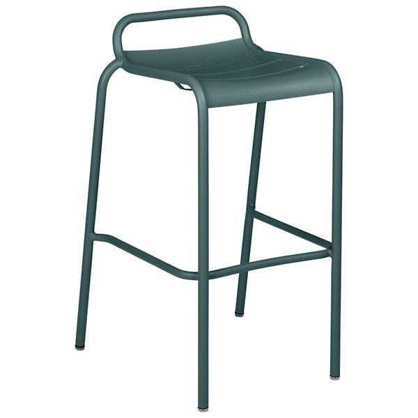 Fermob Luxembourg Low Back High Stool Set of 2 - Color: Grey - 411226