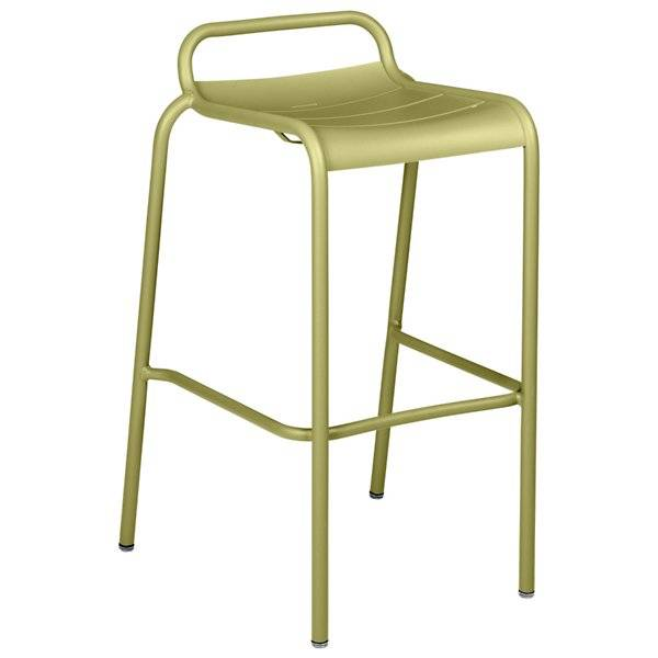Fermob Luxembourg Low Back High Stool Set of 2 - Color: Green - 411265