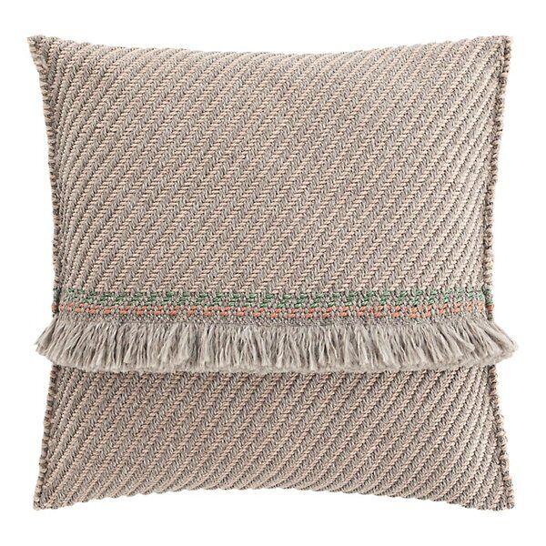 Gan Rugs Garden Layers Outdoor Diagonal Big Pillow - Color: White - 02GA53075URF7