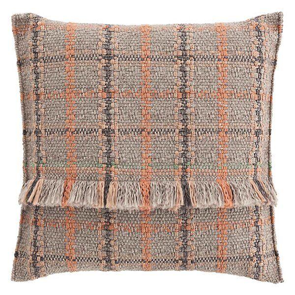 Gan Rugs Garden Layers Outdoor Tartan Big Pillow - Color: Red - 02GA53075URF9