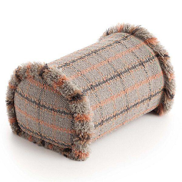 Gan Rugs Garden Layers Outdoor Tartan Big Roll Cushion - Color: Red - 02GA528J3URF9