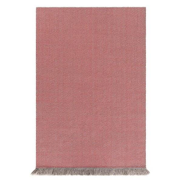 Gan Rugs Garden Layers Outdoor Diagonal Rug - Color: Red - Size: 2 Ft. 11 In. X 6 Ft. 7 In. - 02GA320I9URG3