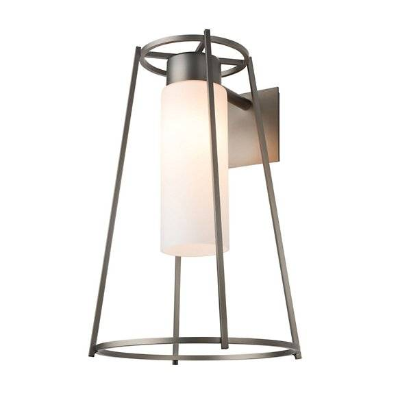 Rio Hubbardton Forge Loft Outdoor Wall Sconce - Color: White - Size: 1 light - 302573-1001