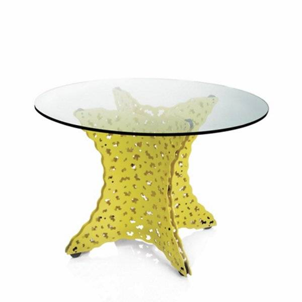 Knoll Topiary Dining Table with Tempered Glass Top - Color: White - Size: 42-In. Diameter - TG-42-TOP-28-W - Knoll Authorized Retailer