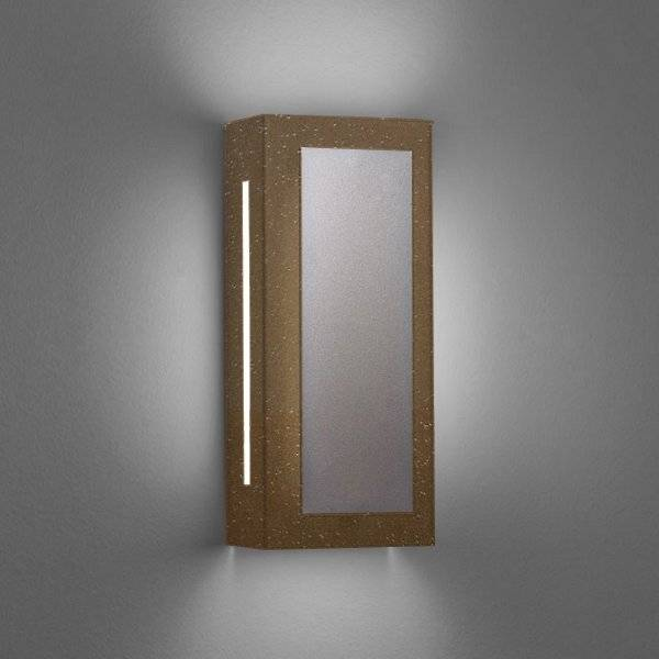 """Ultralights Invicta 16353 Outdoor LED Wall Sconce - Color: Bronze - Size: 14"""" - 16353-14-BA-OA-02"""