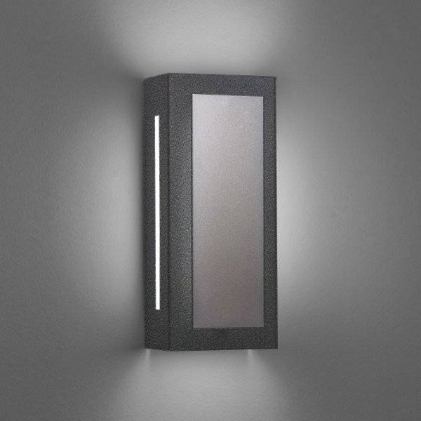 """Ultralights Invicta 16353 Outdoor LED Wall Sconce - Color: Grey - Size: 14"""" - 16353-14-DI-OA-02"""