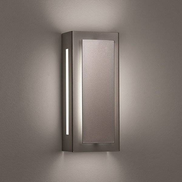 """Ultralights Invicta 16353 Outdoor LED Wall Sconce - Color: Silver - Size: 14"""" - 16353-14-SP-OA-02"""