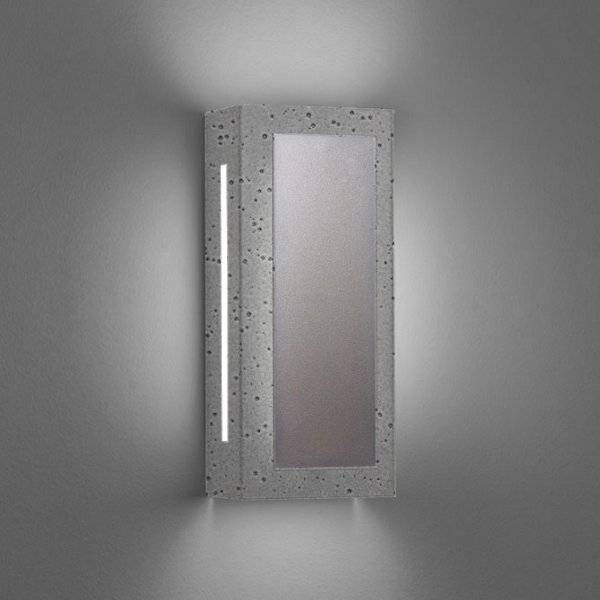 """Ultralights Invicta 16353 Outdoor LED Wall Sconce - Color: Silver - Size: 14"""" - 16353-14-SS-OA-02"""
