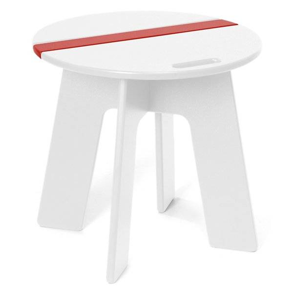Loll Designs Racer Side Car Table - Color: White - RC-RSC-CW
