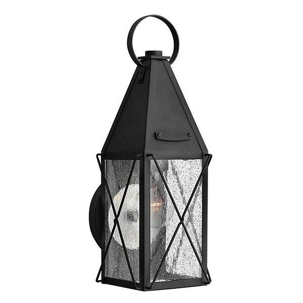 Hinkley York Outdoor Wall Sconce - Color: Clear - Size: Medium - 1844BK