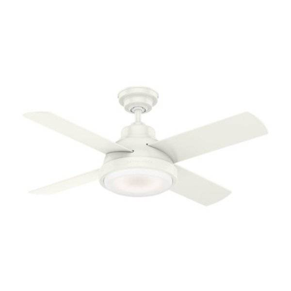 Casablanca Fan Company Levitt Ceiling Fan - Color: White - Blade Color: Fresh White & Rustic Oak - 59434