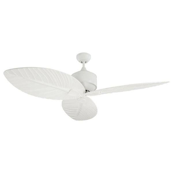 Monte Carlo Fans Delray Outdoor Fan- Wet-Rated - - Color: White - Blade Color: Matte White - 3DLR56RZW