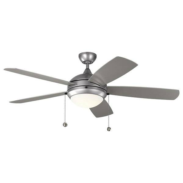 Monte Carlo Fans Discus Outdoor Fan- Wet-Rated - - Color: Steel - Blade Color: Painted Brushed Steel - 5DIW52PBSD