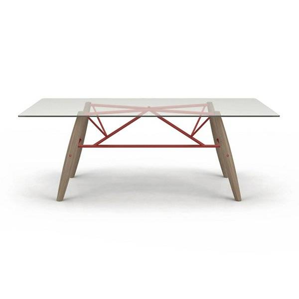 Huppe Connection Glass Top Dining Table - Size: Medium / 84in W - 6088C-VCB-411-683