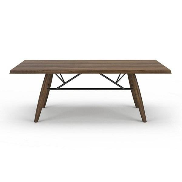 Huppe Connection Walnut Dining Table - Color: Wood tones - Size: Small / 84in W - 6088C-NO-504-605