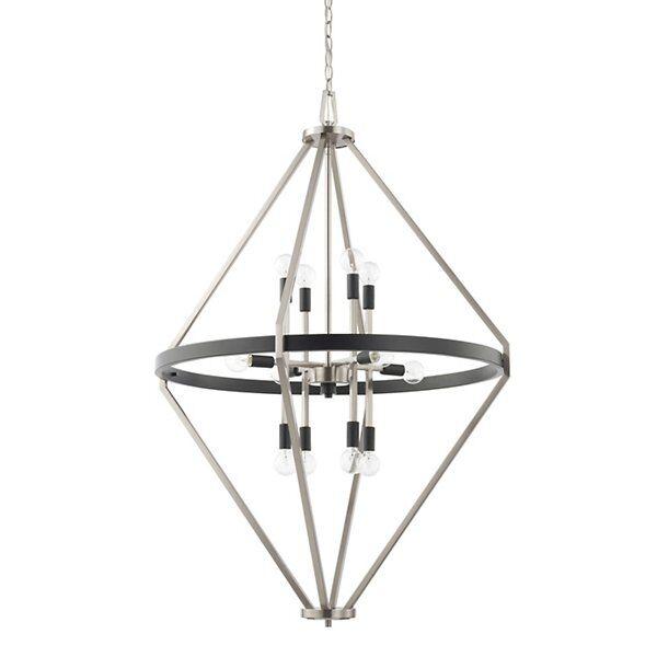 Capital Lighting Tux Foyer Chandelier - Color: Black - 525201BT