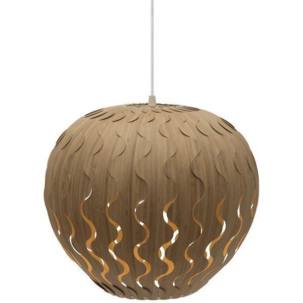 David Trubridge Belle Pendant Light - Color: Wood tones - Size: Small - BLL-SMAL-CAR-CAR-ASM-PAK