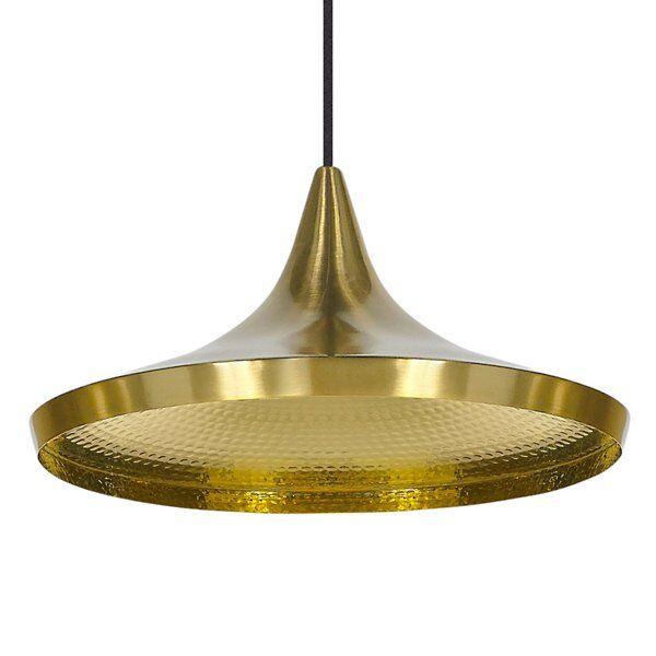 Tom Dixon Beat Wide Pendant Light - Color: Brass - G739072