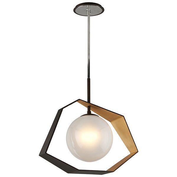 Troy Lighting Origami LED Dining Pendant Light - Color: White - F5526