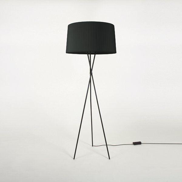 Santa & Cole Tripode G5 Floor Lamp - Color: Black - TG501,TG5P6