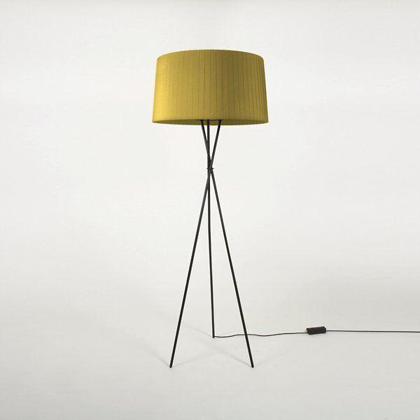 Santa & Cole Tripode G5 Floor Lamp - Color: Green - TG501,TG5P8