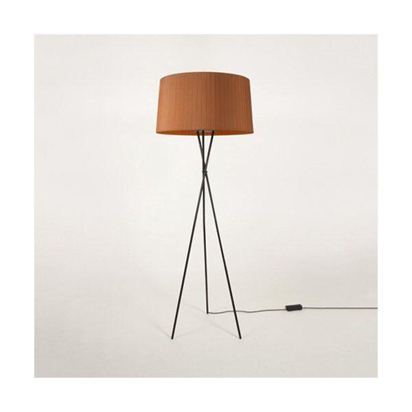 Santa & Cole Tripode G5 Floor Lamp - Color: Orange - TG501,TG5P7