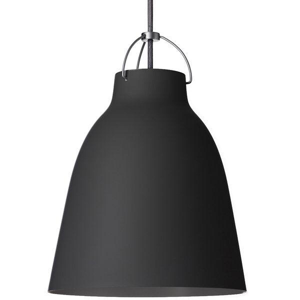 Fritz Hansen (Lightyears) Caravaggio Pendant Light - Color: Black - Size: Small - CAR105