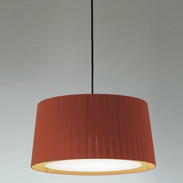 Santa & Cole GT Pendant Light - Color: Red - Size: Medium - SIS22 + GT515