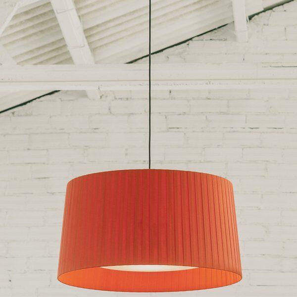 Santa & Cole GT Pendant Light - Color: Orange - Size: Small - SIS22 + GT607