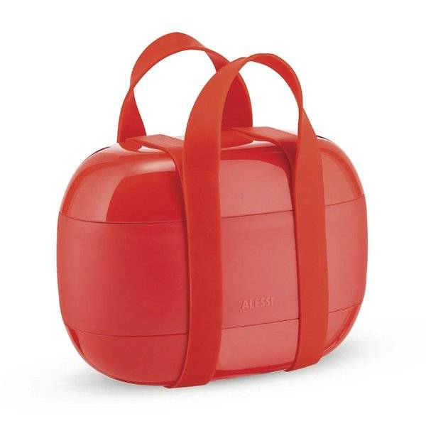 Alessi Food A Porter Lunch Box - Color: Red - SA02 R